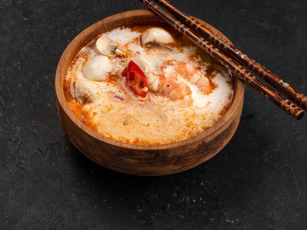 Суп Том-Ям с креветками в Рокет Ролл